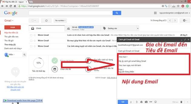 ví dụ 1 gmail